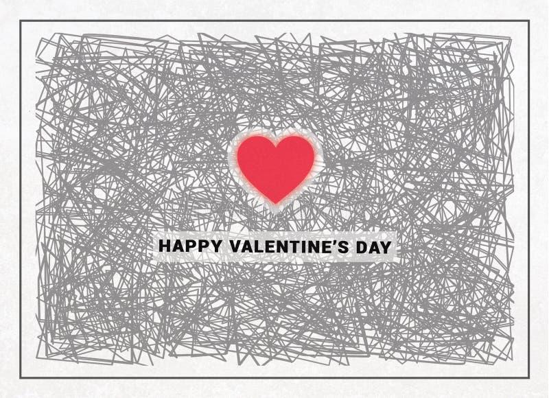 Valentines Day Card royalty free illustration