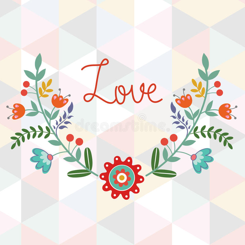 Download Valentine`s day card stock vector. Image of handwriting - 37780747
