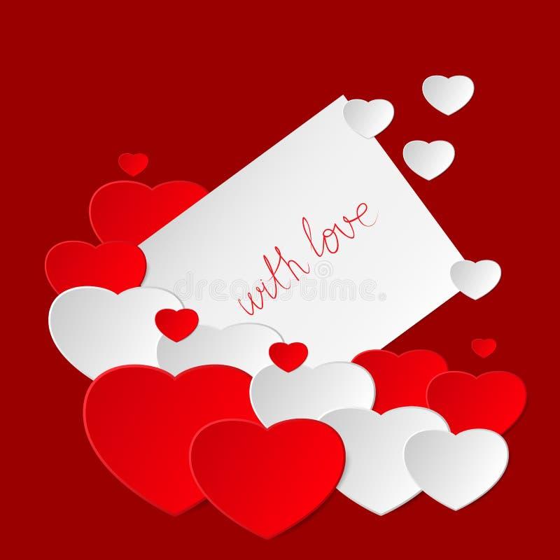 Valentine`s Day card royalty free illustration