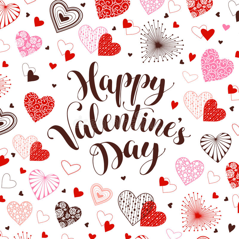Valentine`s Day card stock illustration