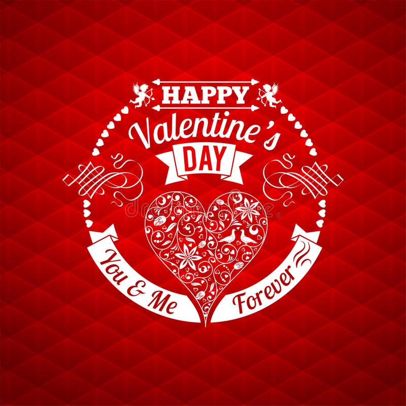 Valentine's Day Card stock illustration