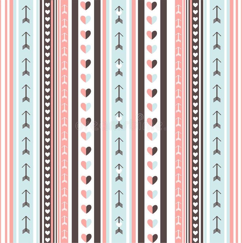 Valentine`s day card. Vector illustration royalty free illustration