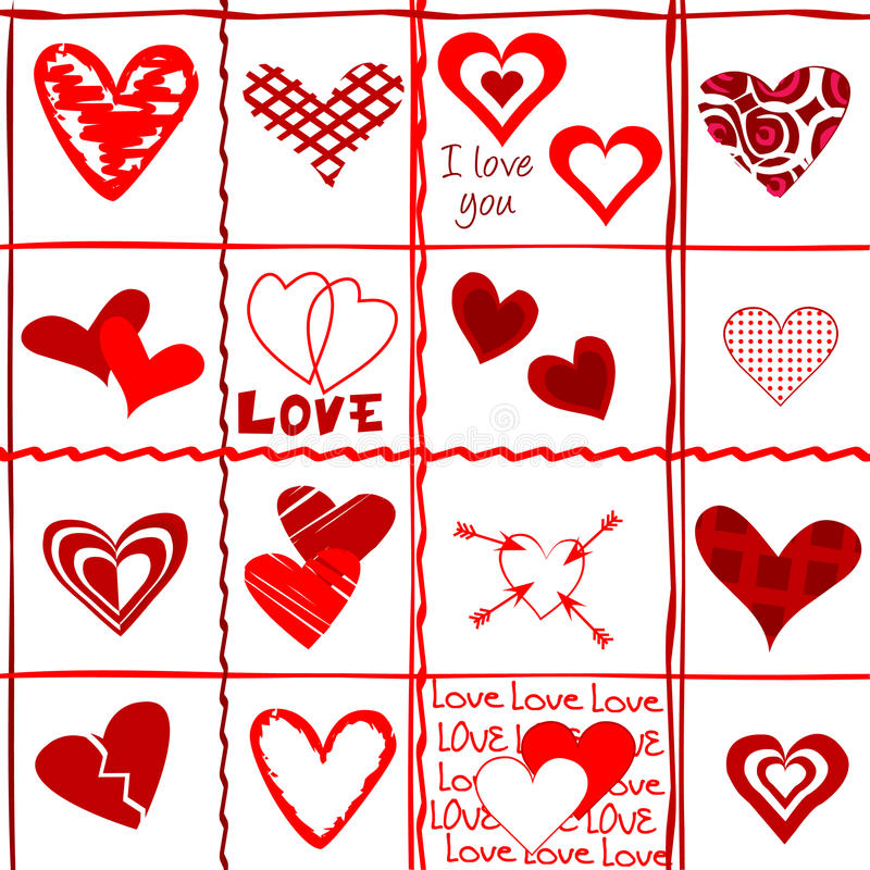 Download Valentine's Day Card, Wrapping Paper Stock Images - Image: 26067234