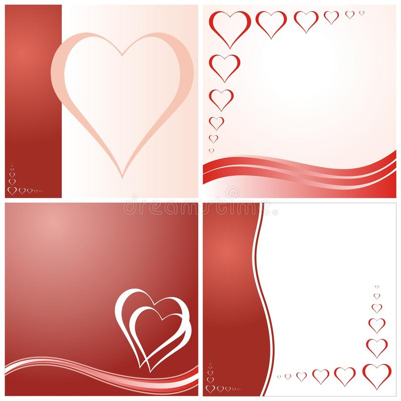 Valentine's day cards stock illustration