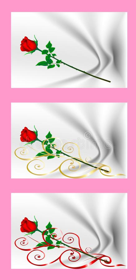 Valentine's Day cards with red roses. Cartoon images of love. A collection of images. Valentine's Day cards with red roses. Cartoon images of love. A gift for a vector illustration