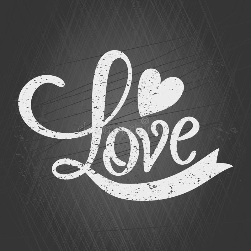 Valentines Day Chalkboard Card royalty free illustration