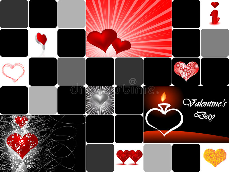 Valentine S Day Collage Royalty Free Stock Photography