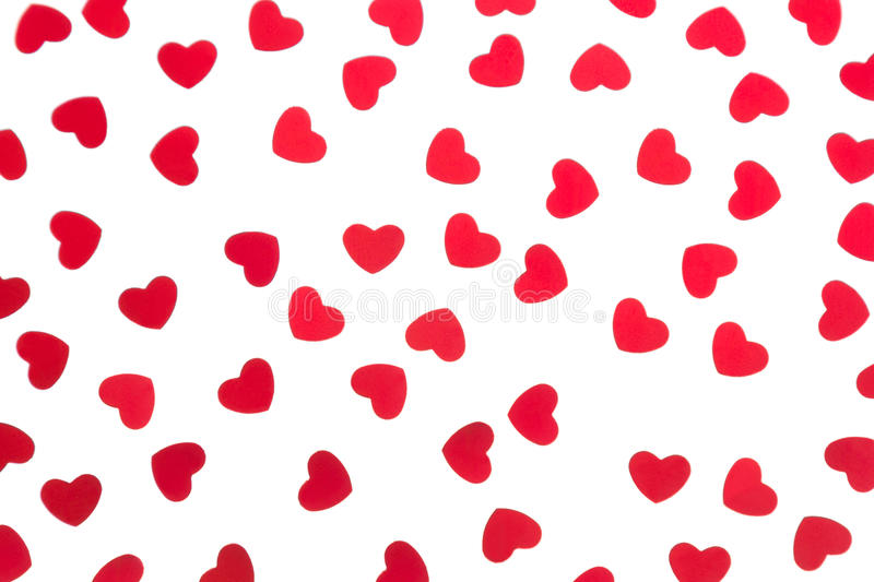 Download Valentine`s Day Decorative Pattern Red Hearts Confetti Isolated On White Background. Stock Photo - Image of happy, bright: 85267854