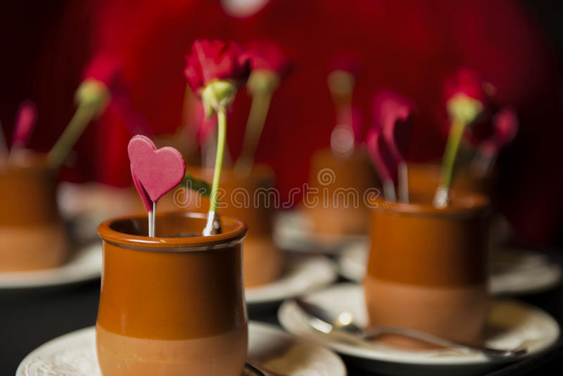 Valentine`s day desert royalty free stock photography