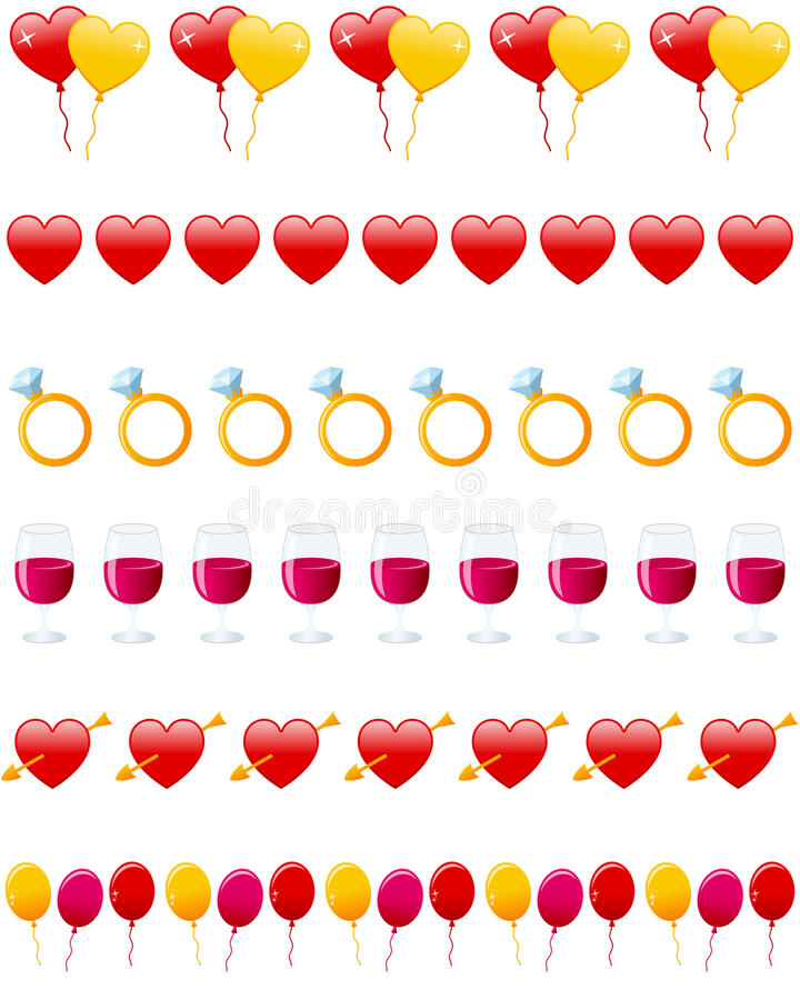 Download Valentine S Day Dividers Set Stock Vector - Illustration of balloons, illustration: 27721425