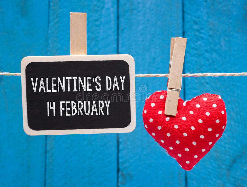 Valentine`s Day 14 February stock image