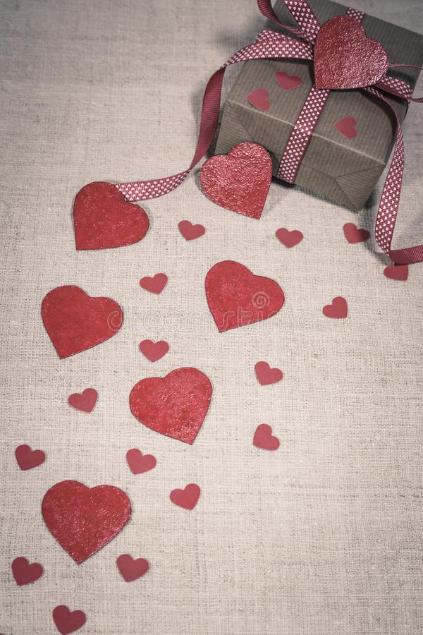 Valentine`s Day gift royalty free stock photos