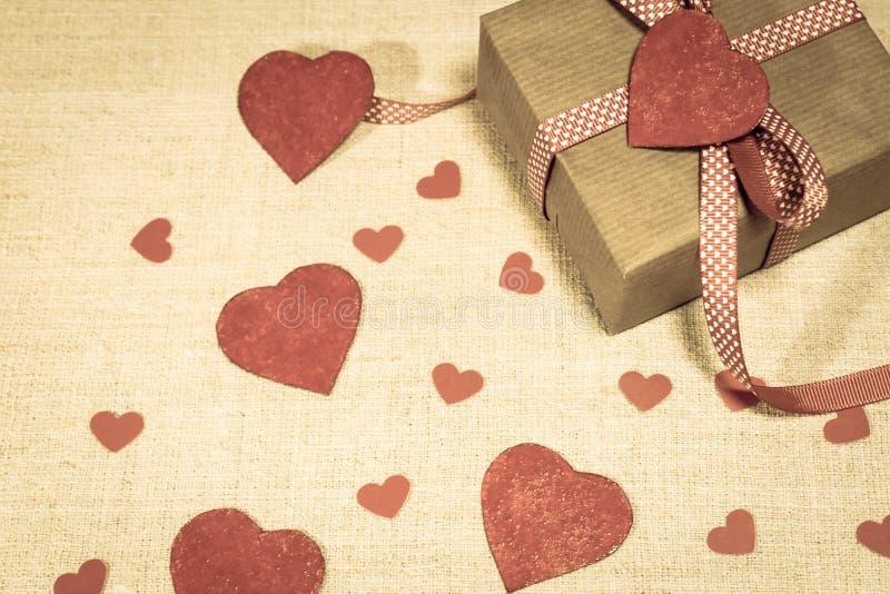 Valentine`s Day gift stock photo
