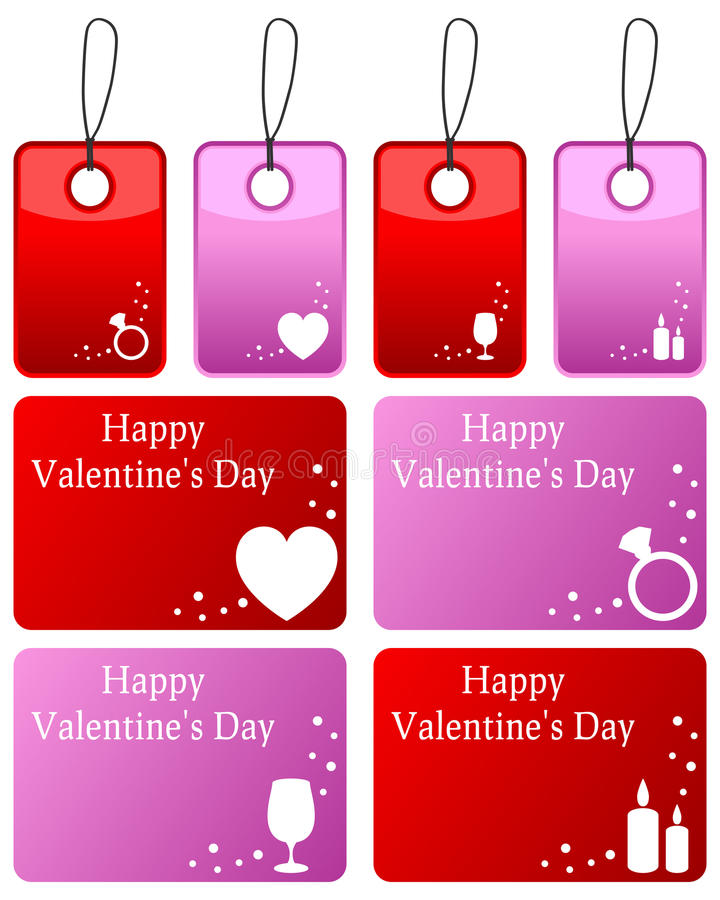 Download Valentine S Day Gift Tags Set Stock Vector - Image: 27739020