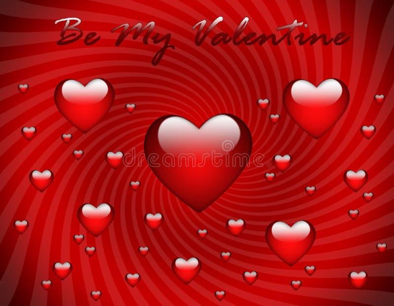 Valentine's Day greeting card royalty free illustration