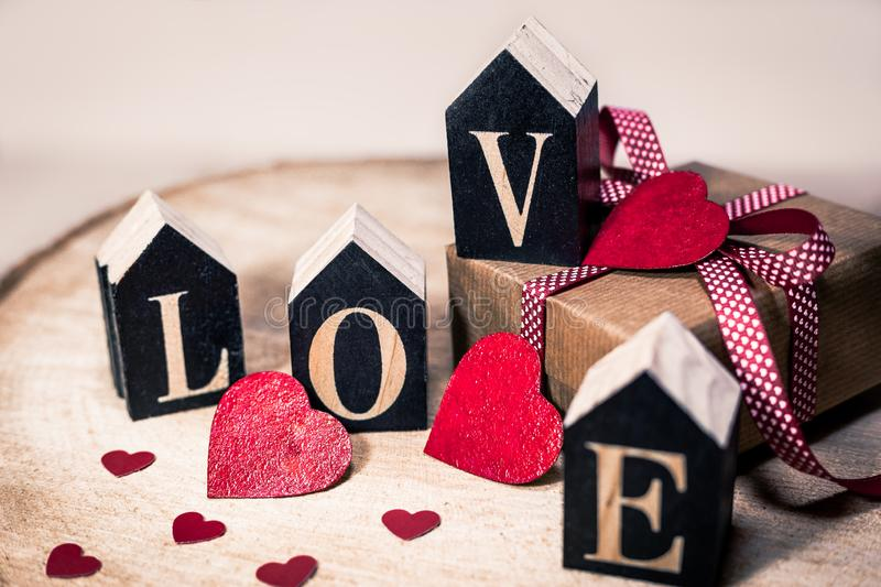 Love as a gift royalty free stock photos
