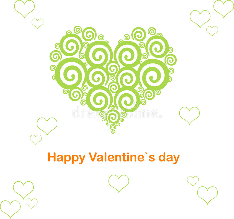 Valentine's day heart abstract royalty free stock photos