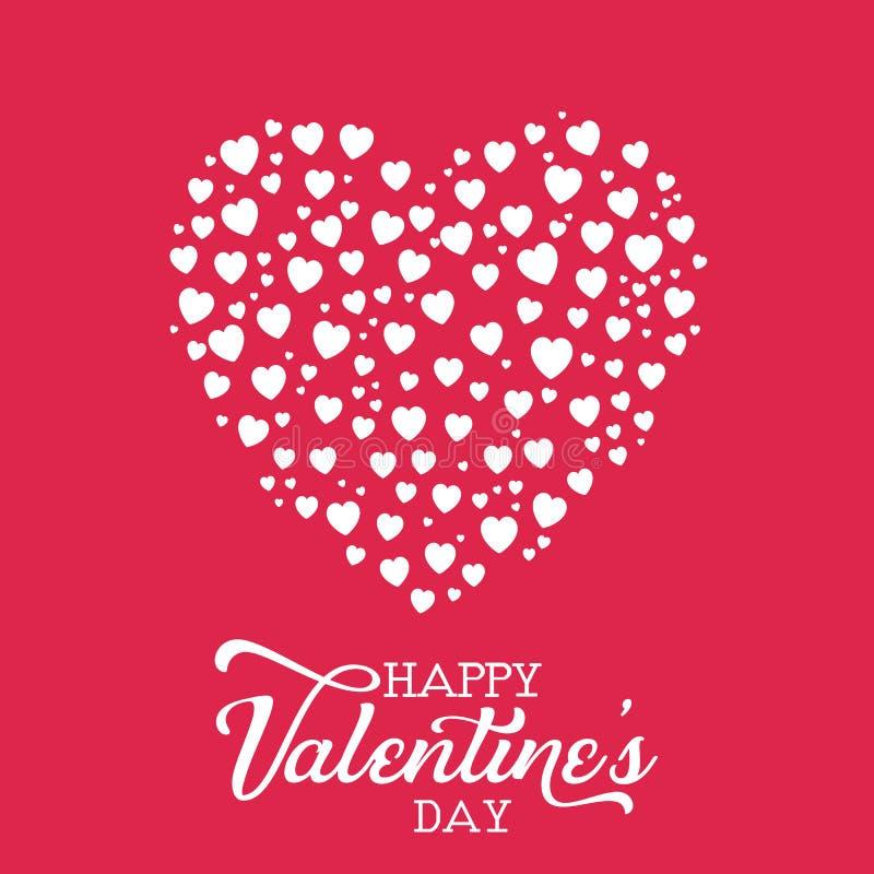 Valentine`s Day heart background stock illustration