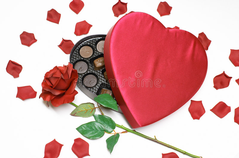 Valentine's Day heart and candy royalty free stock photo