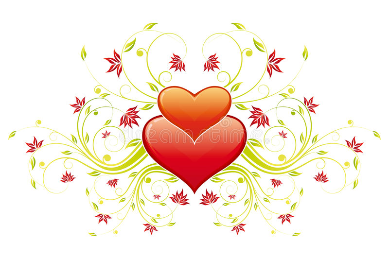 Download Valentine's Day Heart With Flowers Stock Vector - Image: 7323835