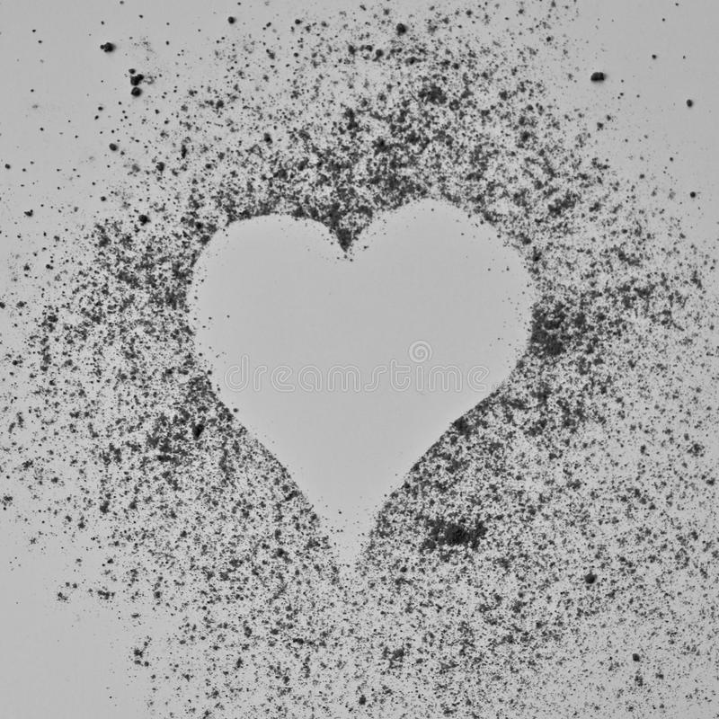Valentine`s Day Heart Shape Outline stock photography