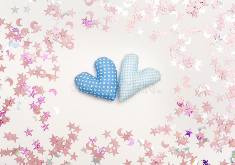 Valentine`s day heart shaped pillow royalty free stock photography