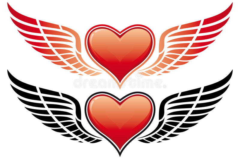Download Valentine's Day Heart With Wing Stock Vector - Image: 7501002