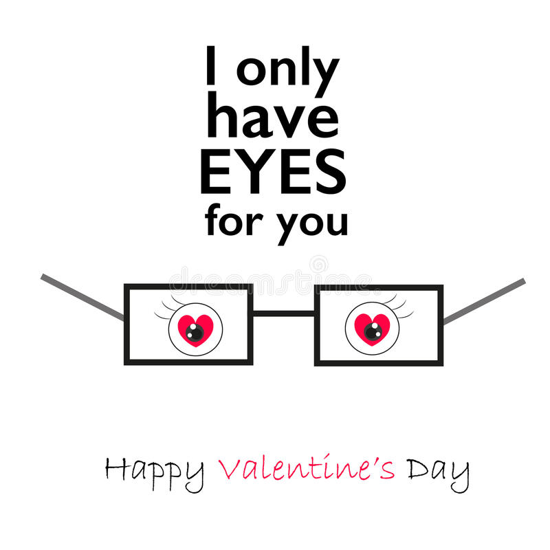 Free Valentine S Day Heart With Eyes    I Only Have Eyes For You   Greeting Card Background Royalty Free Stock Photo - 65263875