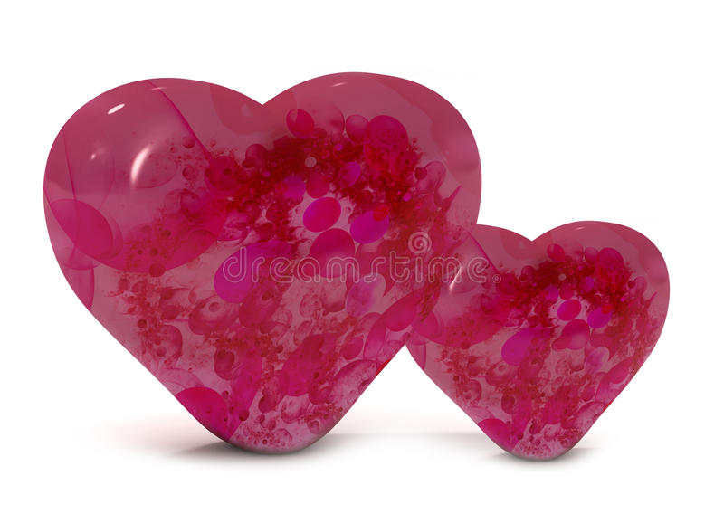 Download Valentine's day hearts stock illustration. Illustration of double - 12976496