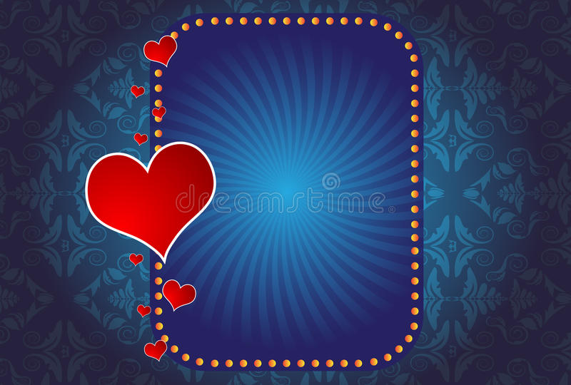 Download A Valentine's Day Hearts And Banner Stock Vector - Illustration of flower, romantic: 12486669