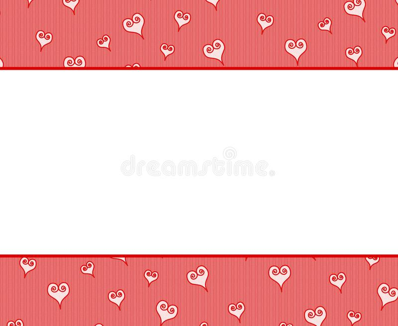 Valentine's Day Hearts Border Background stock photography