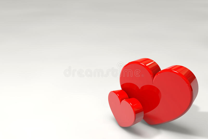 Valentine's Day Hearts royalty free illustration