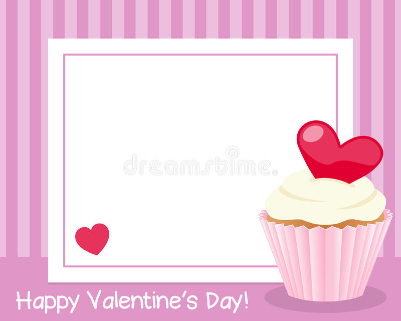 Valentine s Day Horizontal Frame vector illustration