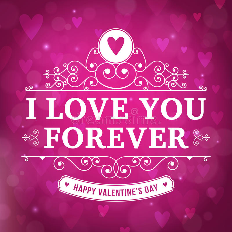Valentines day i love you typography greeting card stock vector download valentines day i love you typography greeting card stock vector illustration of poster m4hsunfo