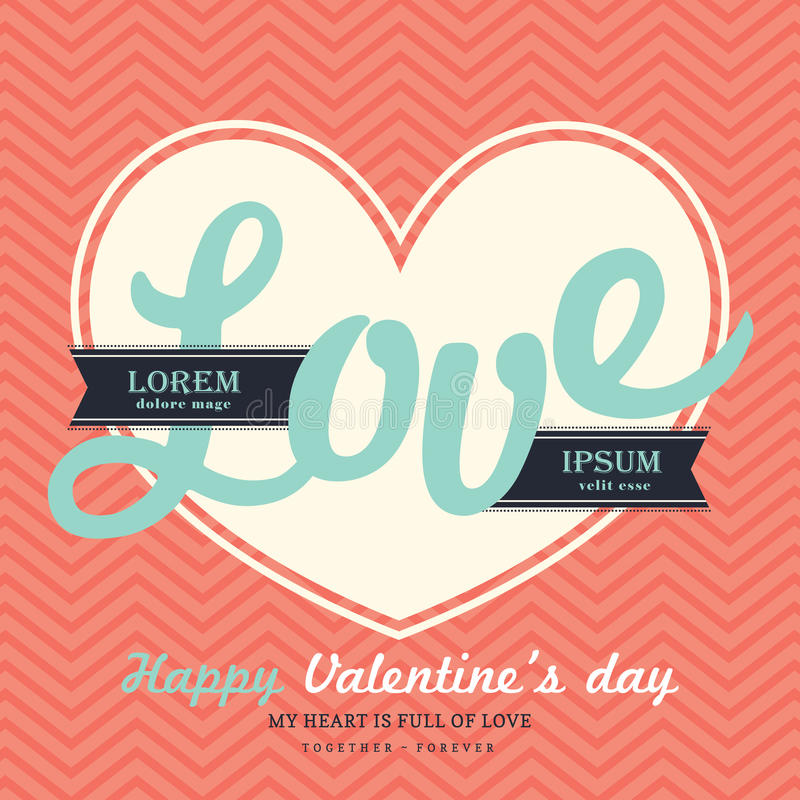 Download Valentine S Day Invitation Card Template With Love Stock Vector Il Ration Of Groom