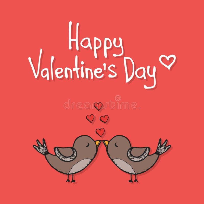 Valentine's day love card template stock illustration