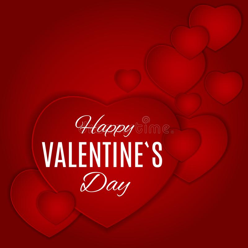 Valentine`s Day Love and Feelings Background Design. Vector illustration vector illustration