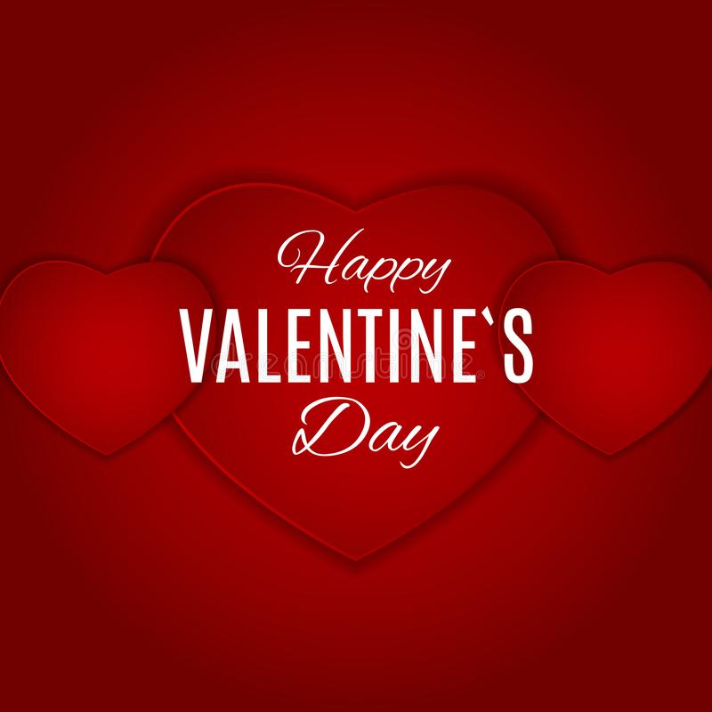 Valentine`s Day Love and Feelings Background Design. Vector illustration royalty free illustration