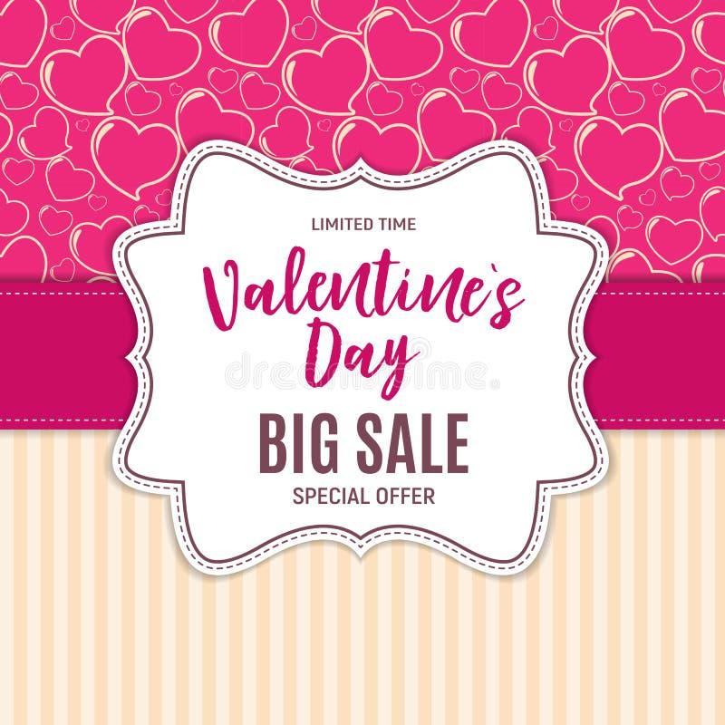 Valentine s Day Love and Feelings Sale Background Design. Vector illustration vector illustration