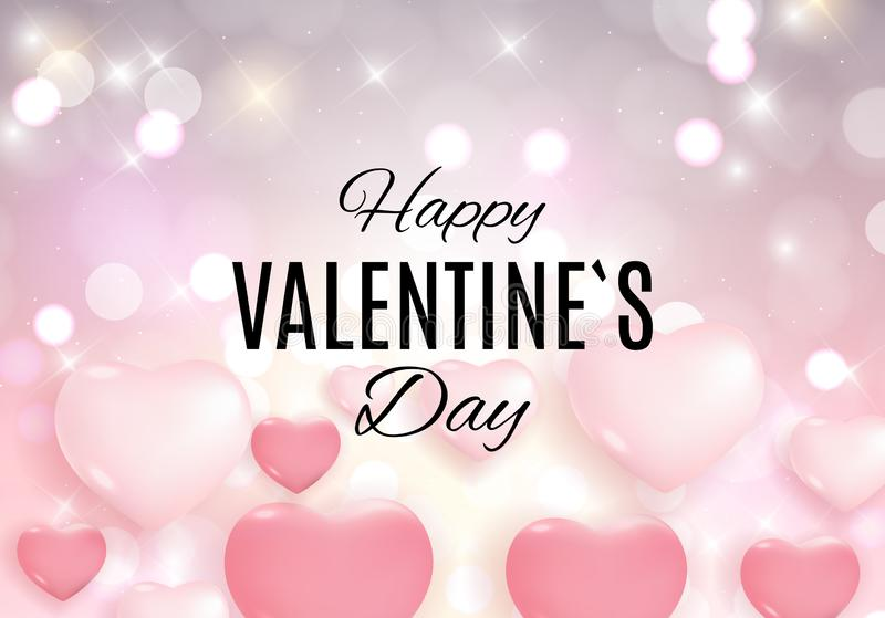Valentine`s Day Love and Feelings Sale Background Design. Vector illustration stock illustration