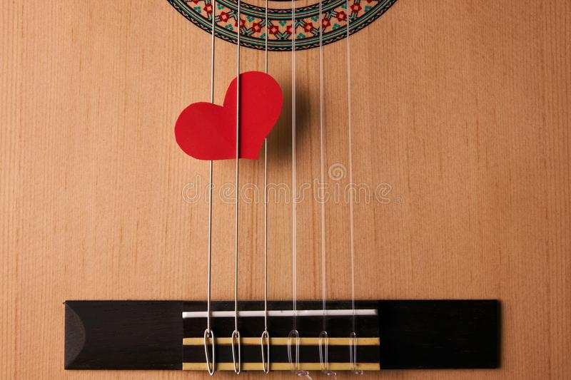 Valentine`s Day and love music concept stock image
