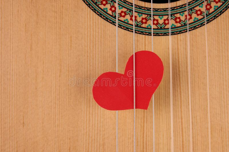 Valentine`s Day and love music concept stock photo