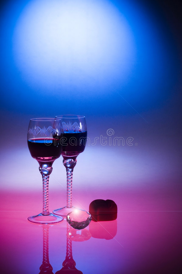 Download Valentine's Day Luxury Diamond And Wine Royalty Free Stock Image - Image: 7810206