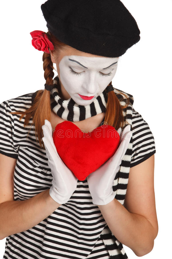 Valentine S Day Mime Portrait Royalty Free Stock Photo