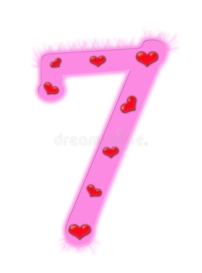 Download Valentine's Day Numeral - 7 Stock Illustration - Image: 7578424
