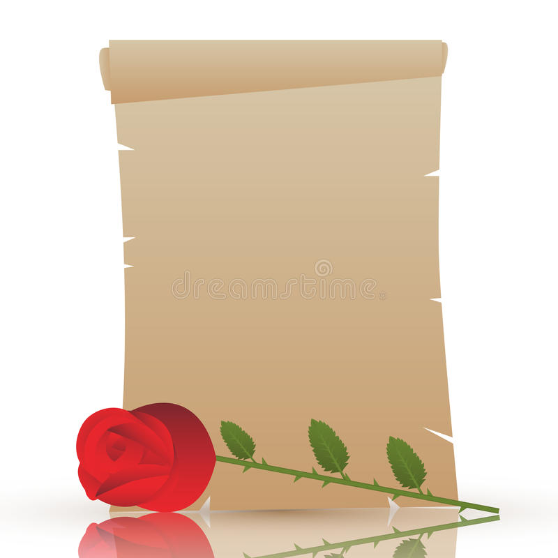 Valentines day parchment stock images