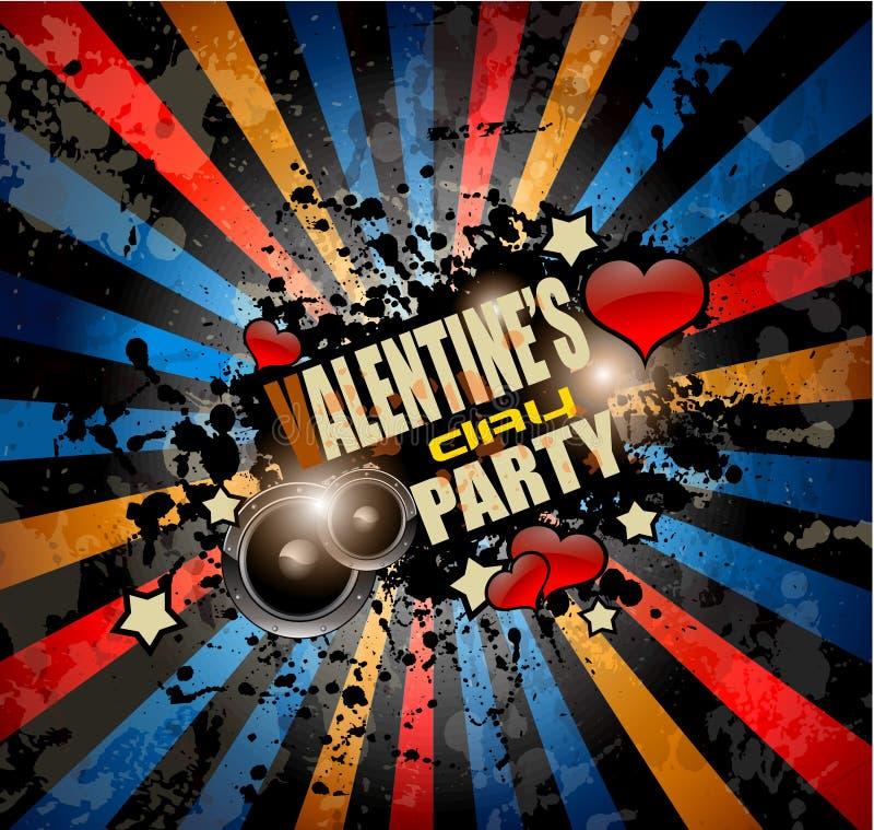 Valentine\'s Day Party Invitation Flyer Background Stock ...