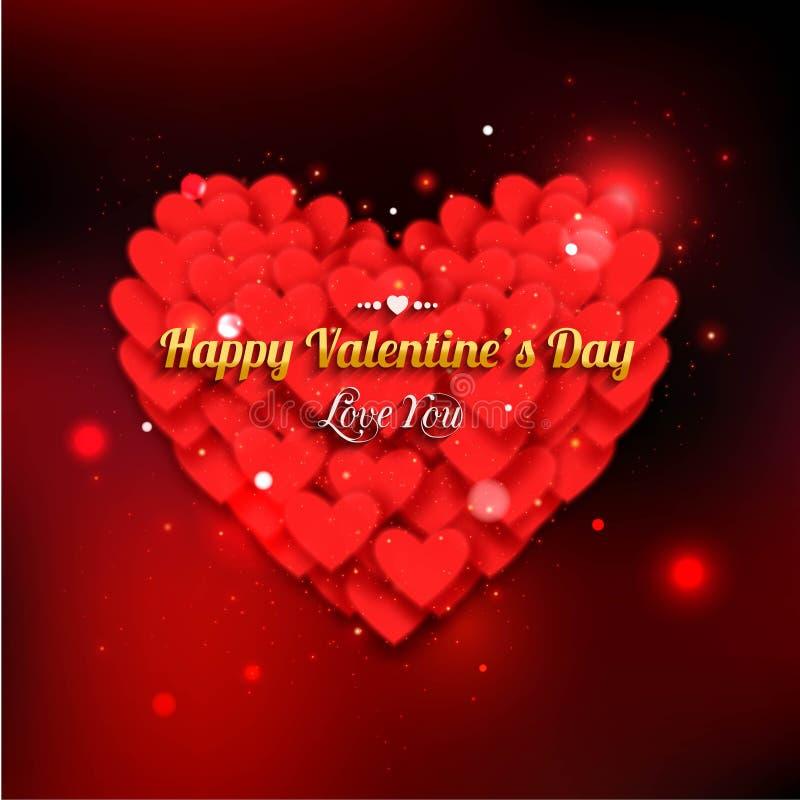 Valentine\'s Day Party Invitation. Valentine\'s Day Stock Vector ...