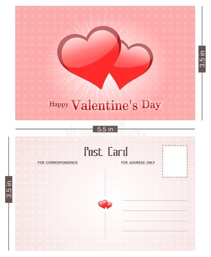 Valentine's Day Postal Card stock photography