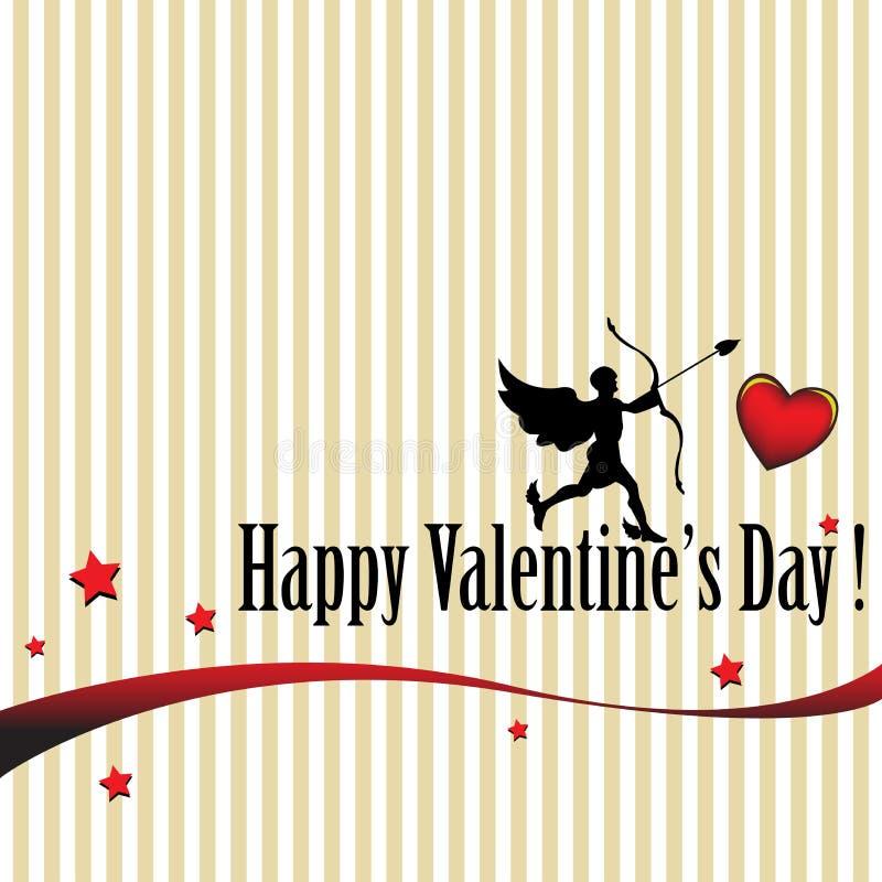 Valentine's day postcard royalty free stock photo